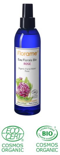 eau florale rose soin bio peau seche