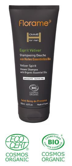 gel douche bio corps cheveux énergisant