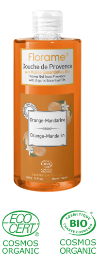 gel douche naturel orange mandarine sans paraben