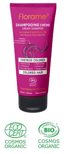 shampoing bio cheveux colorés huiles essentielles