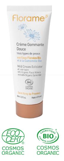 crème gommage nettoyant visage bio